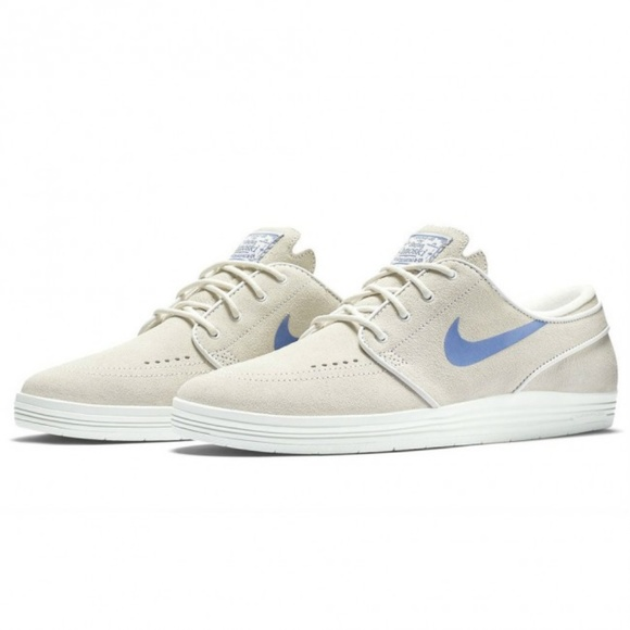 innovative design 3b769 f0872 Nike SB Lunar Stefan Janoski White Suede Shoes. M 5b3eb865619745210dc46ced
